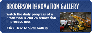Broderson Renovation Gallery - Watch the daily progress of a Broderson IC-200-2B renovation